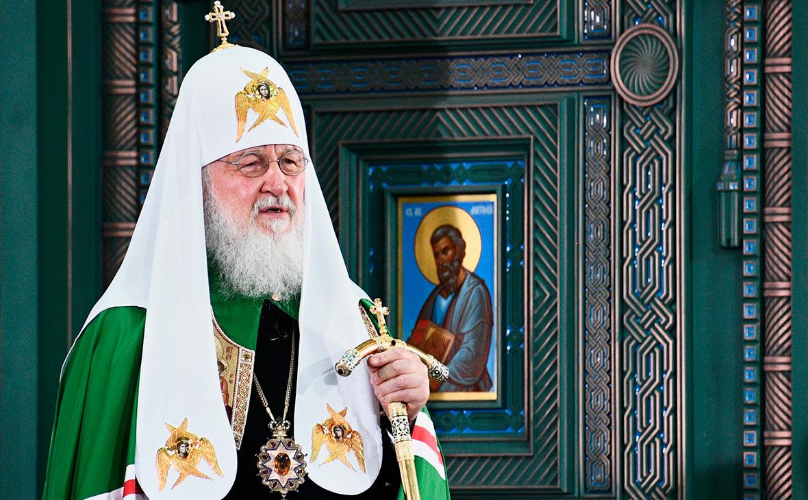 Патриарх Московский и всея Руси Кирилл на церемонии освящения собора Воскресения Христова - главного храма Вооруженных сил РФ