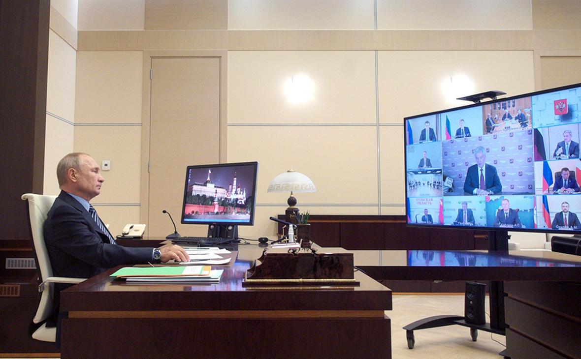 Владимир Путин во время заседания наблюдательного совета Агентства стратегических инициатив (АСИ)