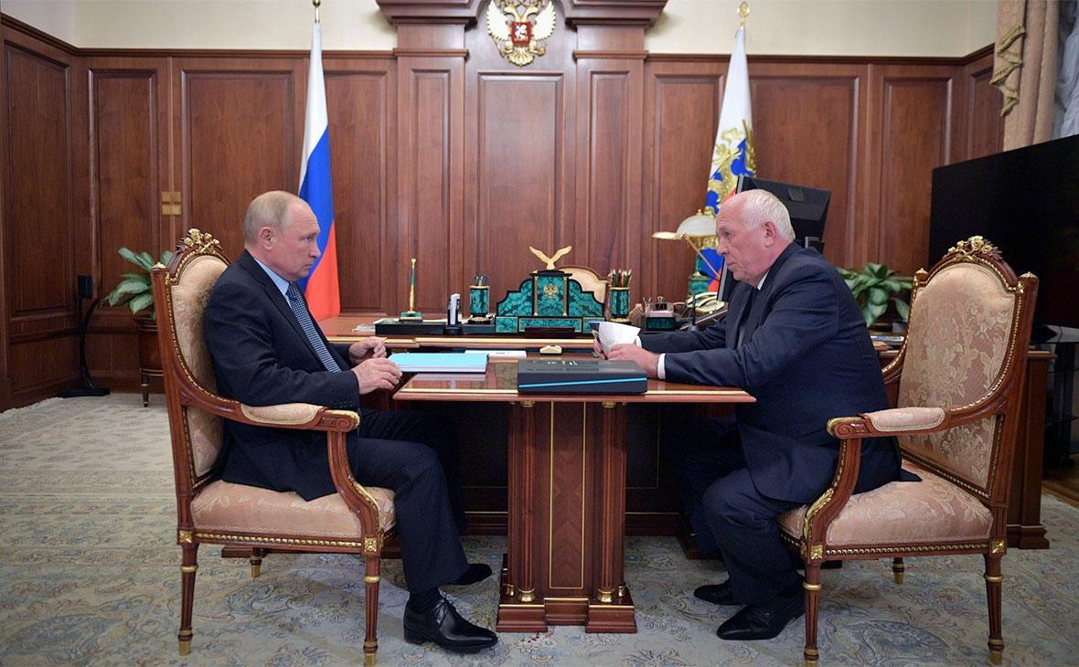 Владимир Путин и Сергей Чемезов