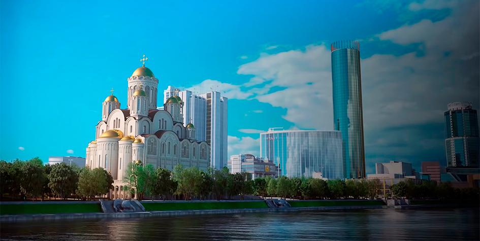 Фото:проект строительства храма святой Екатерины