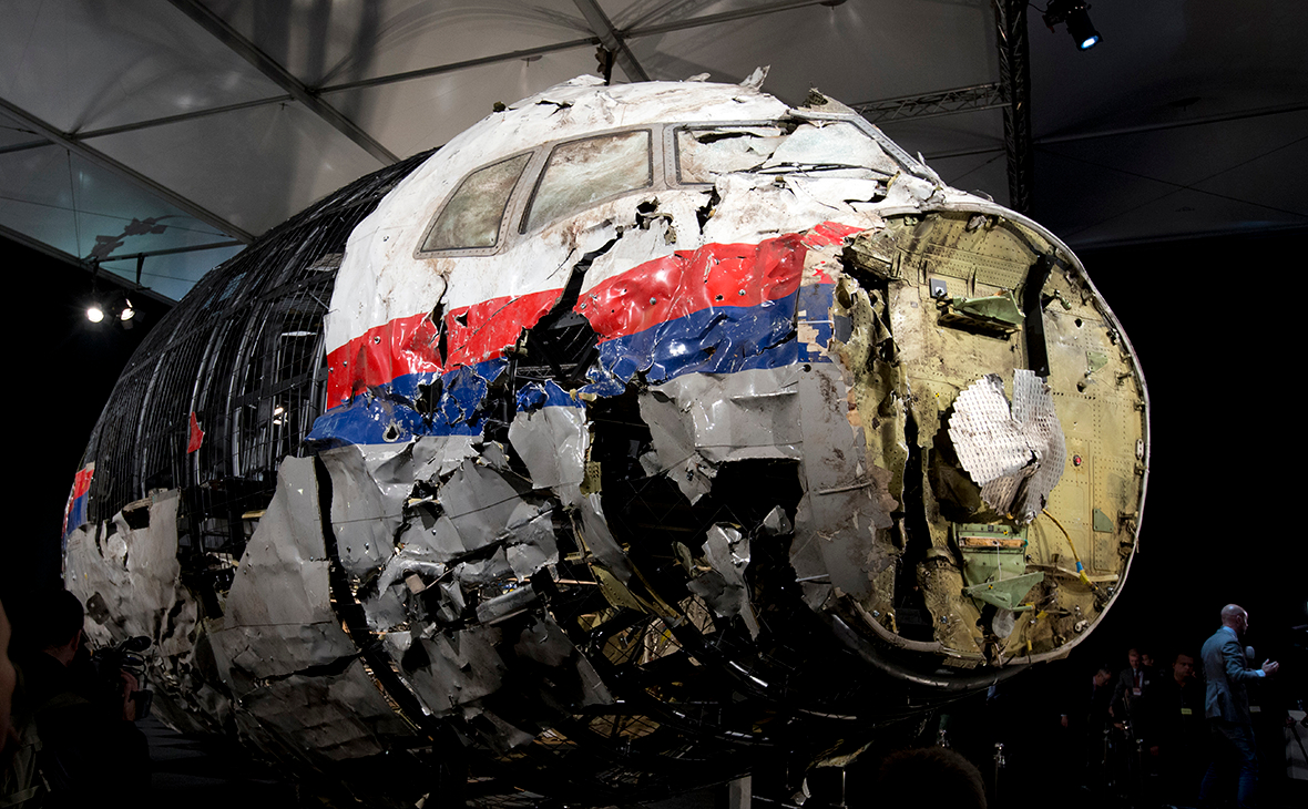 Обломки самолета Boeing MH17
