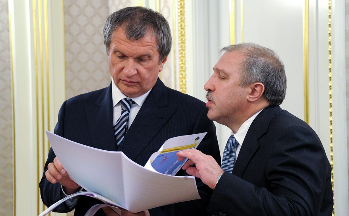 Игорь Сечин и Эдуард Худайнатов (слева направо)