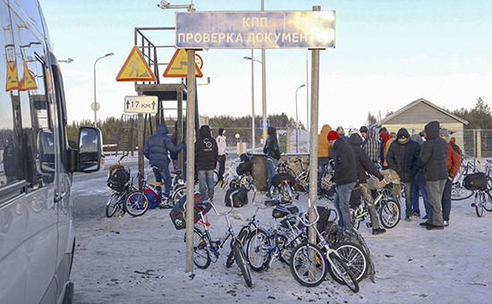 Беженцы и мигранты на российско-норвежской границе