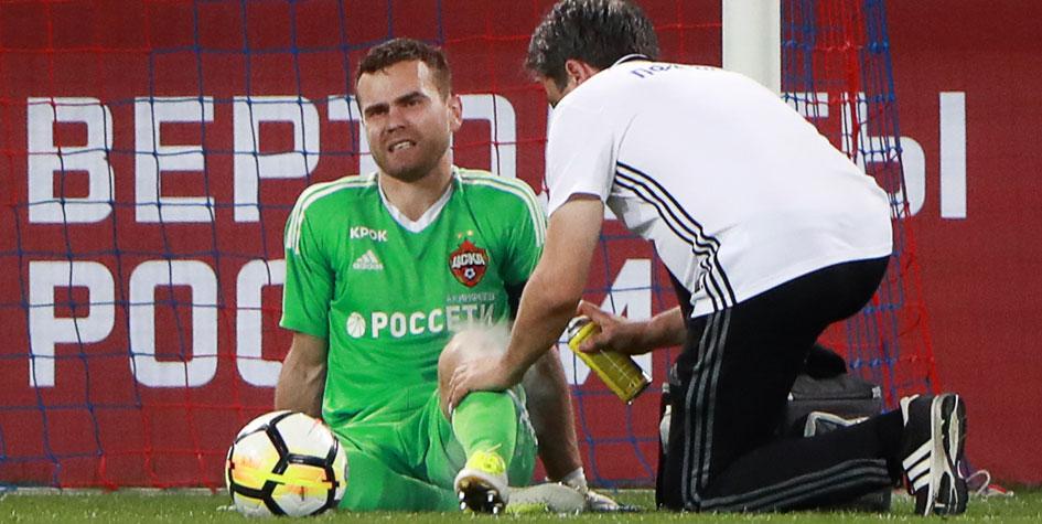 Врачи определили характер травмы вратаря ЦСКА Игоря Акинфеева