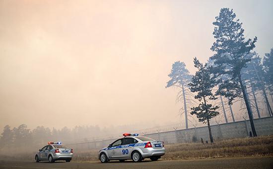 Ликвидация лесного пожара в селе Смоленка Забайкальского края