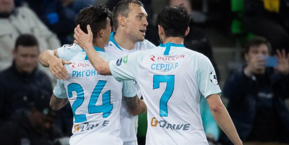 Зенит забил победный гол Краснодару на 95-й минуте