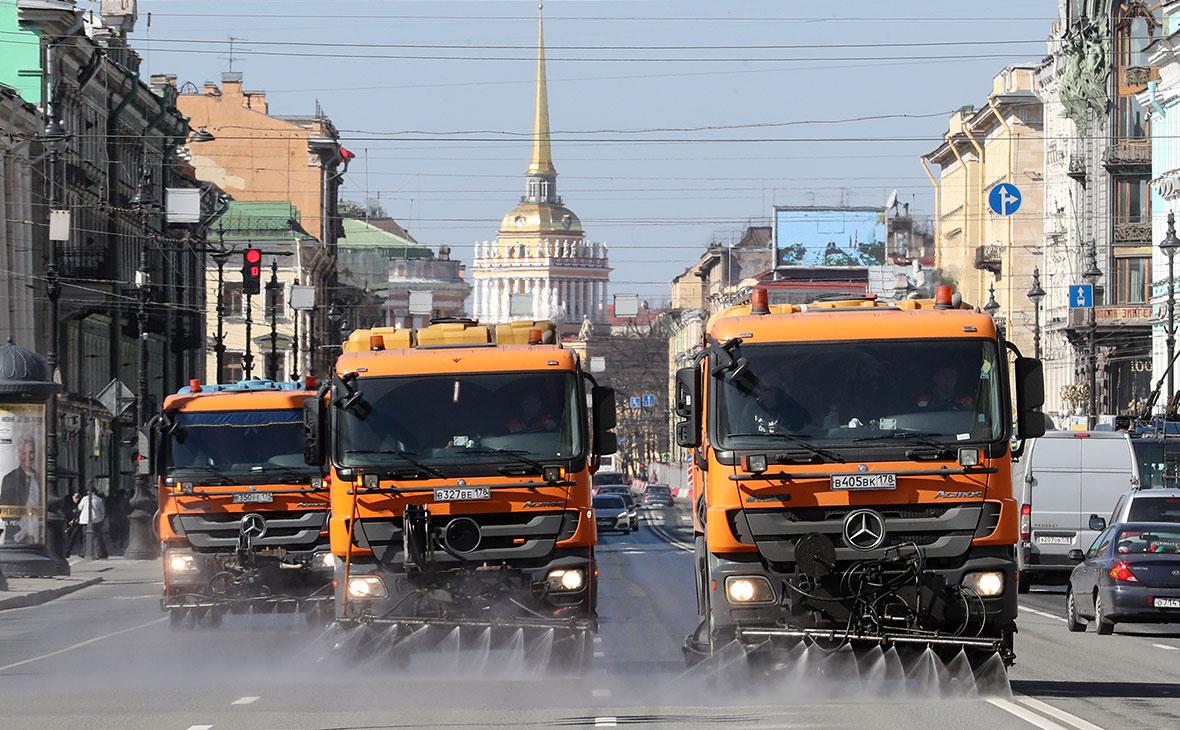 Дезинфекция автомобильных и пешеходных дорог в Санкт-Петербурге