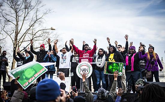 Протесты против полицейского насилия в Вашингтоне