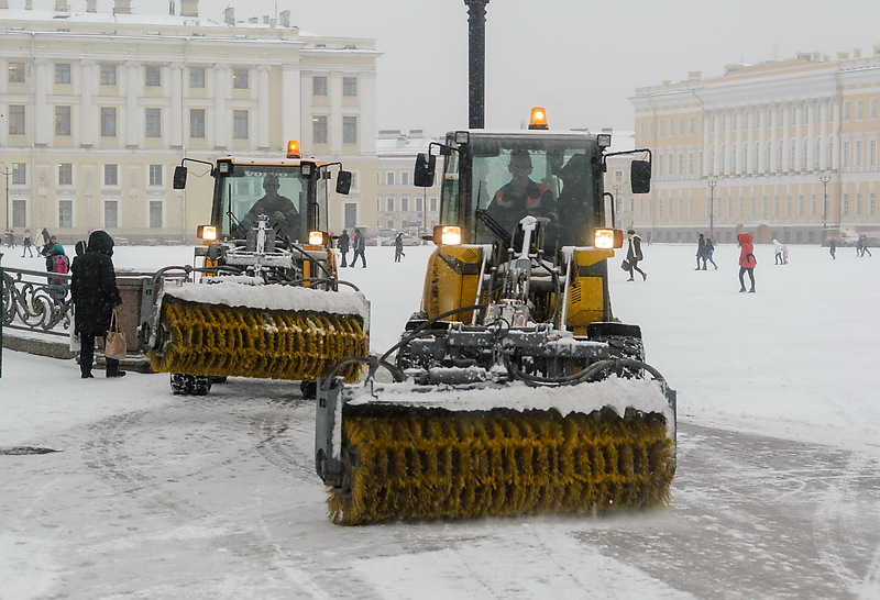 Санкт-Петербург. Снежные заносы