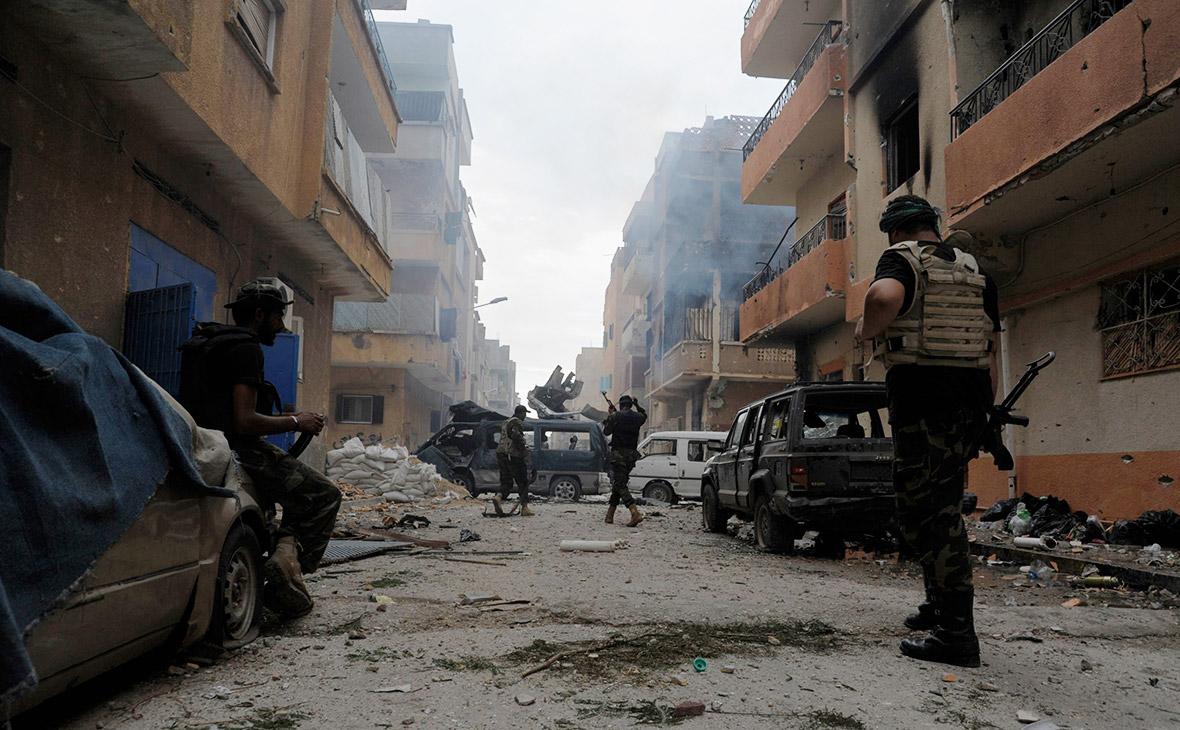 Ливийские военные. Октябрь 2014 года
