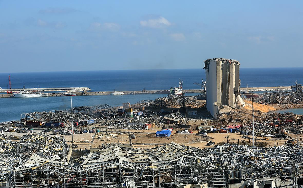 Последствия взрыва в порту