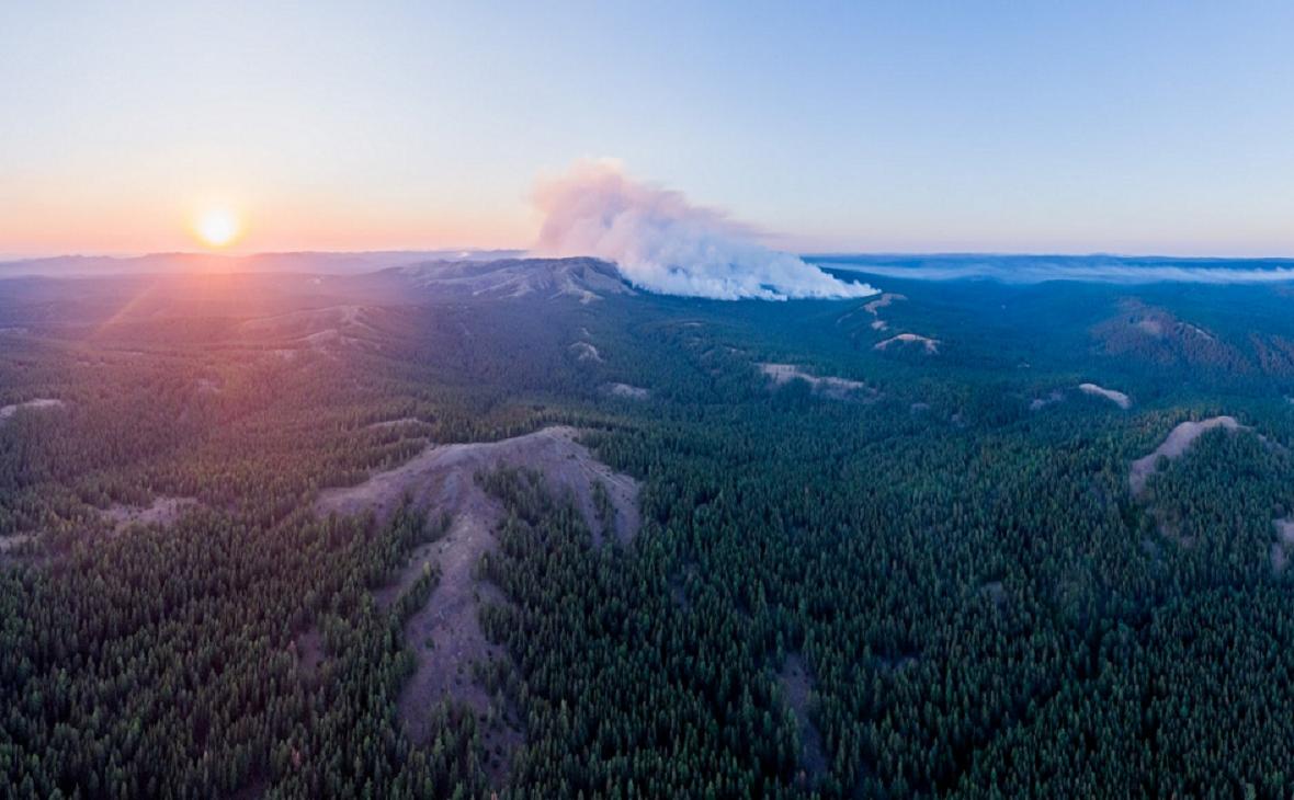 Фото:Олег Чегодаев, пожар в Башкирском заповеднике
