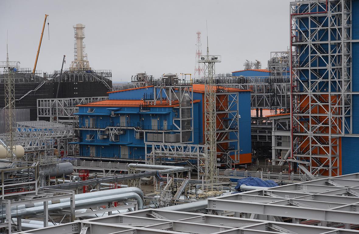 Строительство завода «Ямал СПГ». 14 июня 2017 года