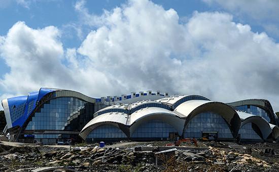 Приморский океанариум на острове Русский. Архив