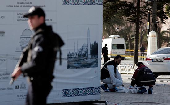 На месте теракта вцентре Стамбула