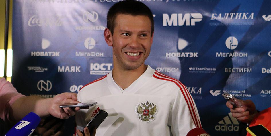 Федор Смолов получил травму на тренировке сборной России