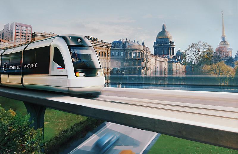 Выставка «Экспресс вбудущее». Проект легкого рельсового транспорта (ЛРТ)