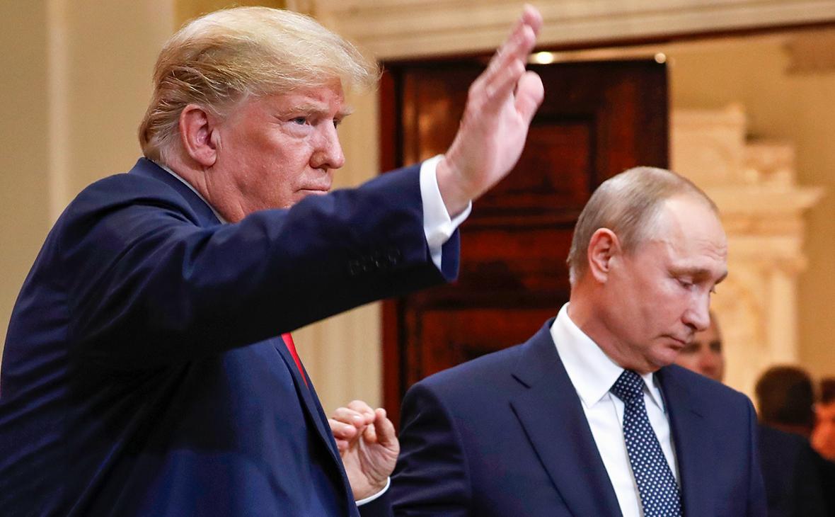 Дональд Трамп и Владимир Путин. 16 июля 2018 года