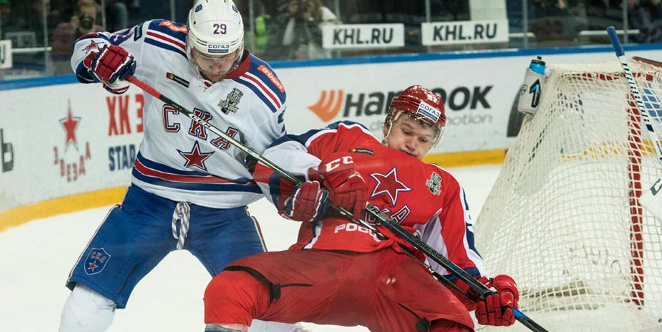 СКА проиграл второй матч подряд в полуфинале Кубка Гагарина