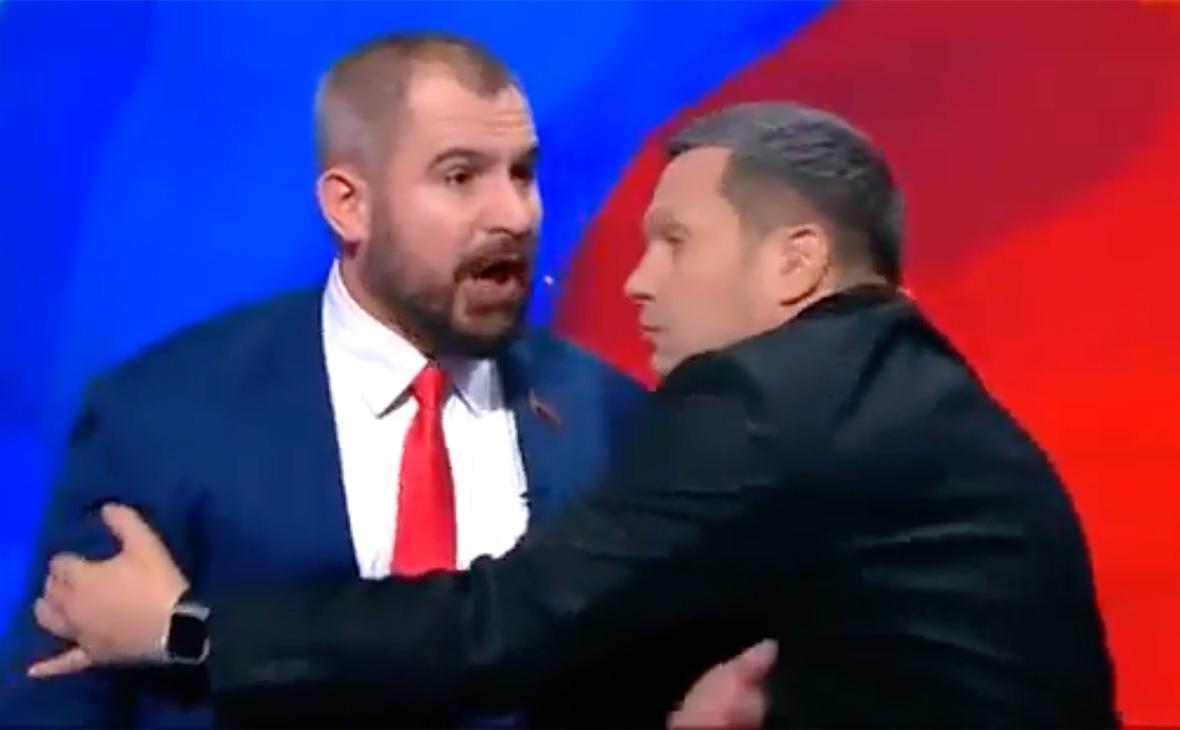 Фото: скриншот предвыборных дебатов на телеканале «Россия 1»