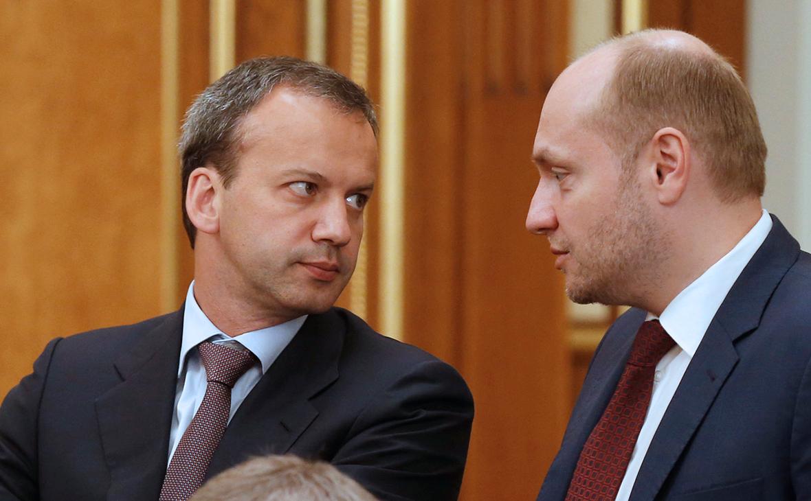 Аркадий Дворкович и Александр Галушка