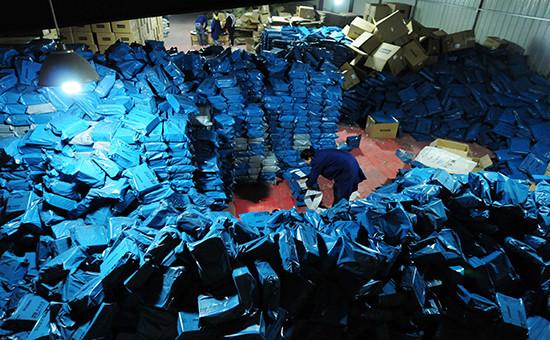 Сортировочный центр интернет-магазиновв Китае