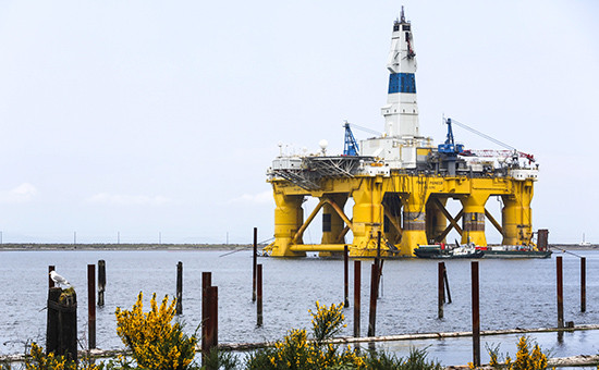 Буровая установка компании Royal Dutch Shell