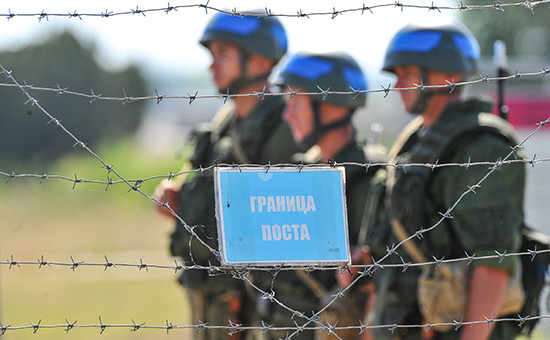 Миротворческий пост в Молдавии. Архивное фото