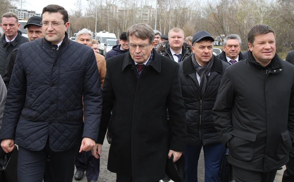 Глеб Никитин (слева) во время визита в Саров