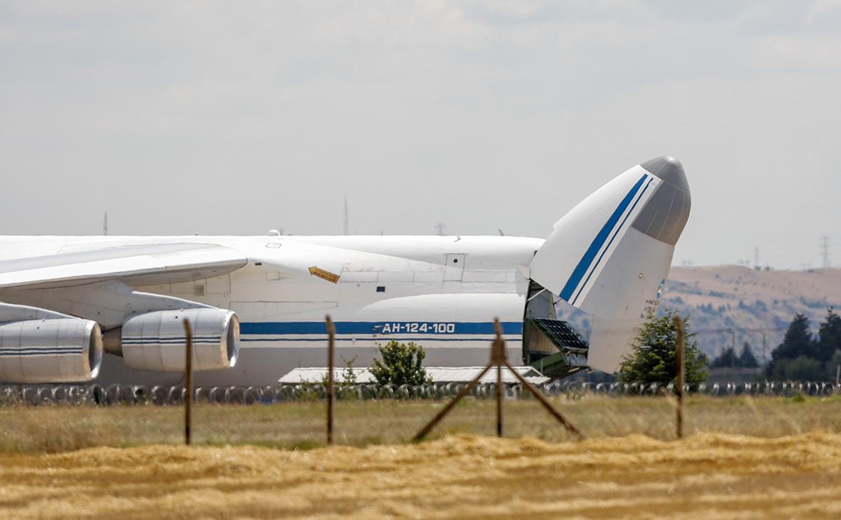 Российский самолет скомпонентамиЗРК С-400 в Анкаре