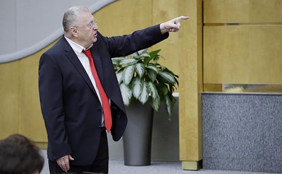 Лидер ЛДПР Владимир Жириновский напленарном заседании Государственной думыРФ. Архивное фото