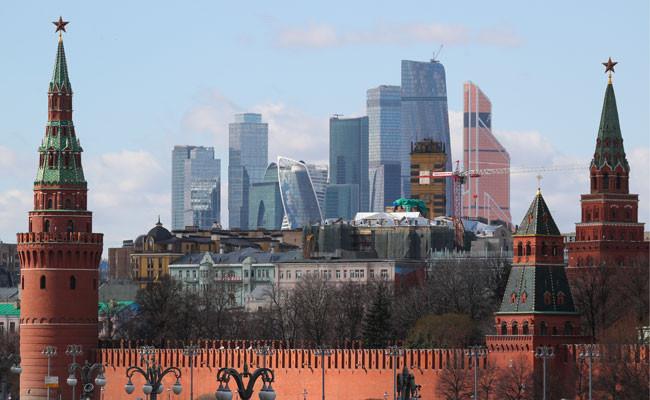 Вид на Кремль и деловой центр «Москва-Сити»