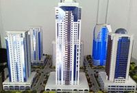 Фото:Проект комплекса высотных зданий «Грозный-Сити». Фото: пресс-служба президента и правительства Чеченской Республики