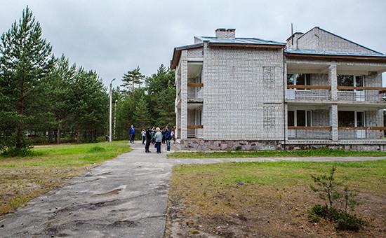 Один изкорпусов детского лагеря «Парк-отель Сямозеро», гдепроживали дети