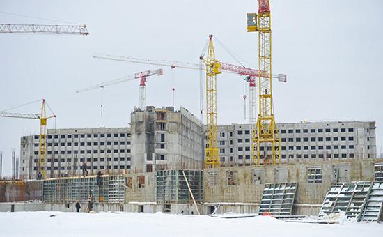 Строительство следственного изолятора «Кресты-2». 12 марта 2012 года