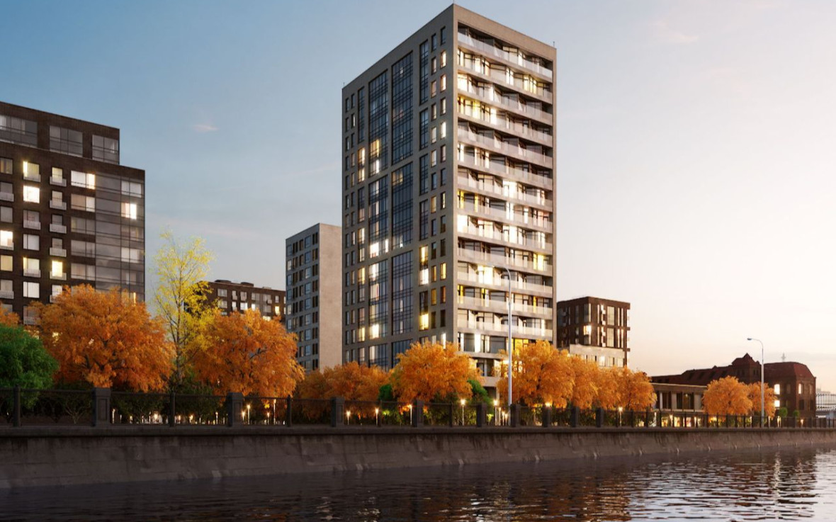 Проектный вид на ЖК «Резиденции архитекторов»