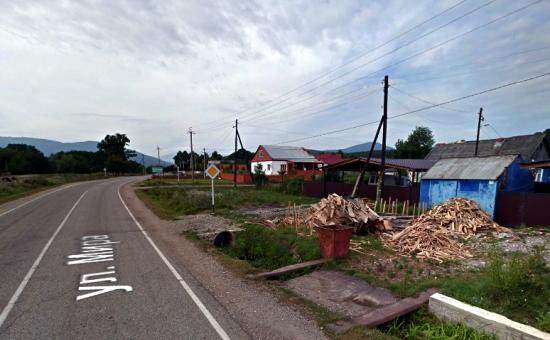 Дорога в селе ЧерниговскоеАпшеронского района
