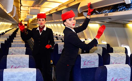 На борту самолета Boeing 757-200 компании «ВИМ-Авиа»