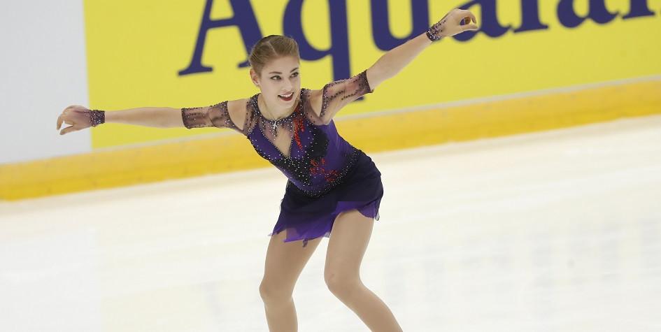 Действующая чемпионка Европы по фигурному катанию Алена Косторная