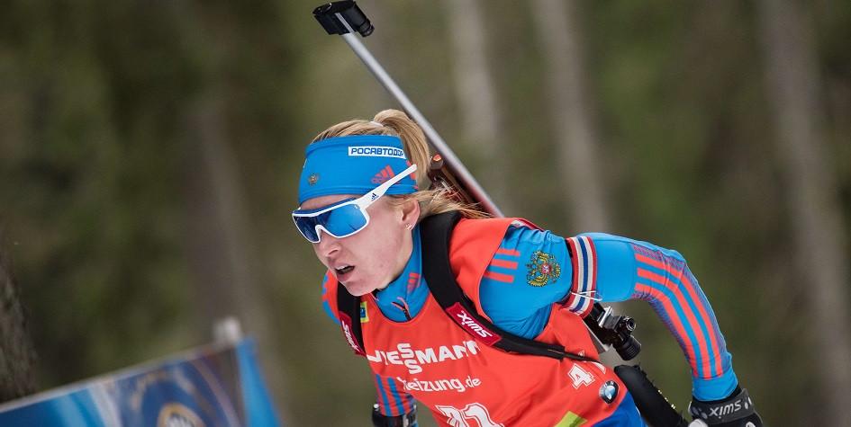 Российская биатлонистка Екатерина Глазырина