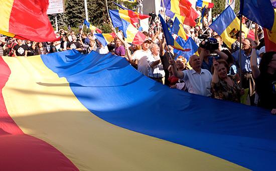 Акция протеста в Кишиневе. Архивное фото