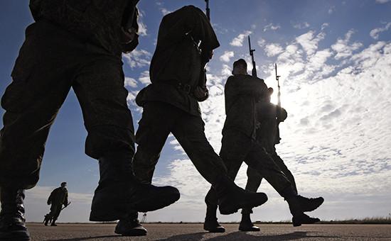 Военнослужащие вКрыму, апрель 2015 года