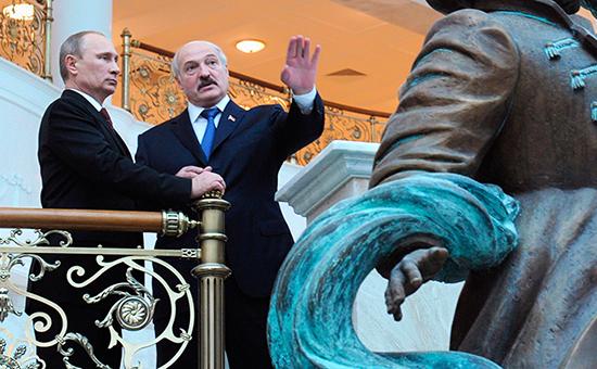 Владимир Путин иАлександр Лукашенко