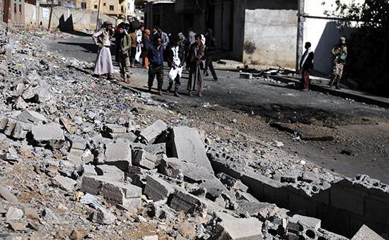 Вид города Саны(столицыЙемена)после авиаударапод руководством Саудовской Аравии