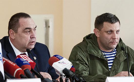 Игорь Плотницкий и Александр Захарченко (слева направо)