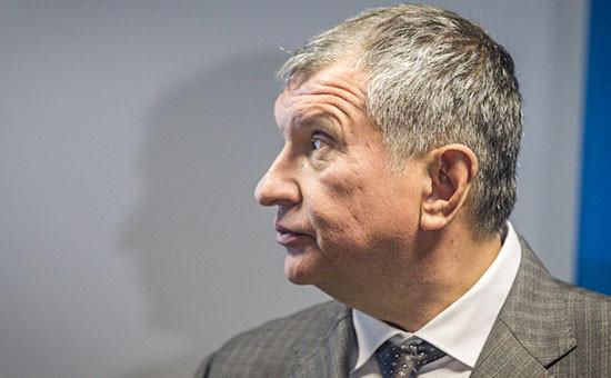 Глава нефтяной компании «Роснефть» Игорь Сечин
