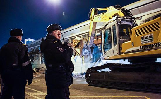 Снос торговых павильонов вМоскве