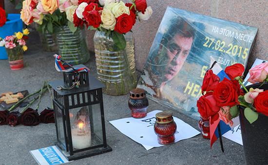 На месте убийства Бориса Немцова. 25 мая 2016 года