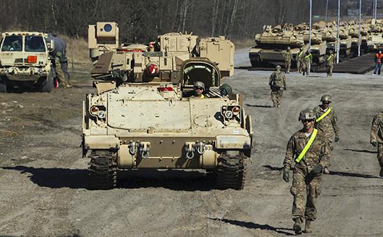 Танк M1 Abrams американской армии во время учений в Польше  Архивное фото