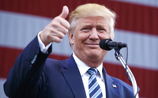 Кандидат в президенты США от Республиканской партии ДональдТрамп